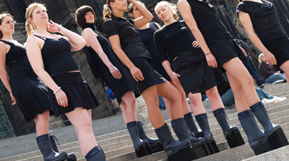 boots for rising waters, dom cathedral cologne, socially engaged art, performance art